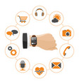 smart watch with applications vector image