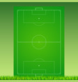 soccer field with grass on green backdrop vector image