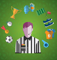 Soccer Game Items big icon set vector image