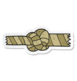 sticker of a cartoon knotted rope vector image
