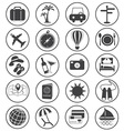 Travel Icons Collection vector image vector image
