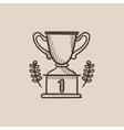 Trophy sketch icon vector image vector image