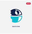 two color death star icon from astronomy concept vector image vector image