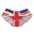 union jack knickers vector image vector image