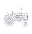 vintage agricultural tractor isolated on white vector image vector image