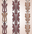Vintage decorative set brown floral pattern vector image vector image
