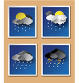 Weather rainning vector image