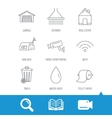 Wi-fi video monitoring and real estate icons vector image vector image