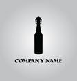 wine guitar logo vector image