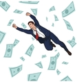 Young successful businessman Career Profit vector image vector image