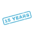 15 Years Text Rubber Stamp vector image