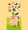 food vertical banner cartoon style vector image