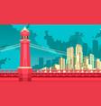 bridge to megalopolis vector image