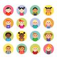 Multicultural national children avatars vector image