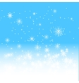 blue winter background vector image