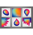 abstract covers set with color fluid shapes vector image
