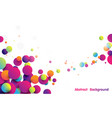 abstract funny colorful striped balls background vector image