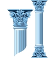 Ancient stone columns vector image