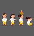 bali girl cute cartoon character set vector image vector image