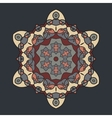 Brown Retro Ornate Mandala Background for greeting vector image