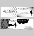 business card abstract creative set 10 vector image