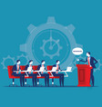 business corporate meeting concept business vector image vector image