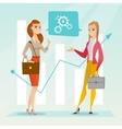 business women analyzing financial data