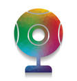 chat web camera sign colorful icon with vector image vector image