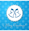 Christmas applique card background vector image vector image