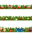 christmas borders big set vector image vector image
