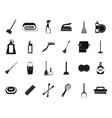 cleaning tools icon set simple style vector image vector image
