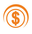 coin money isolated icon vector image vector image