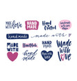 collection hand made inscriptions for labels or vector image