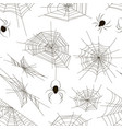 collection of spiders and webs pattern vector image vector image