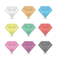 Colorful diamond icons set vector image