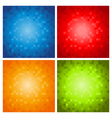 Colorful Pixel Backgrounds vector image vector image