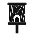 construction bird house icon simple style vector image vector image