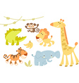 Cute animal set vector image