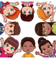 cute kids friends cartoons vector image vector image