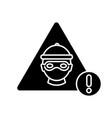 cyber crime black glyph icon vector image