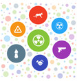 dangerous icons vector image vector image