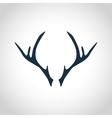 Deer antler silhouette vector image vector image