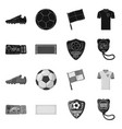 design of soccer and gear icon collection vector image vector image