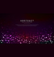dynamic glowing abstract particles background vector image vector image
