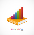 Education and school book icon vector image