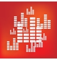 equalizer icon Music sound wave symbol vector image vector image