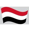 Flag of Yemen waving vector image