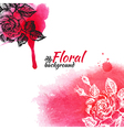Floral watercolor background vector image vector image