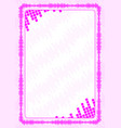 frame and border with pink volume levels for vector image vector image
