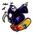 Grim Skater vector image vector image